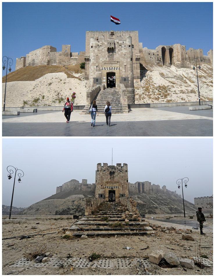 Reuters'in objektifinden savaştan önce ve savaştan sonra Halep…