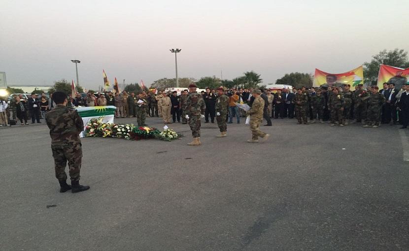 Sait Çürükkaya için Erbil'de askeri tören düzenlendi
