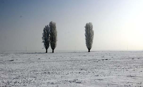 Sıcaklığın -17'ye düştüğü Kürt şehrinde ortaya müthiş görüntüler çıktı...