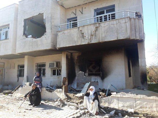 Yasak sonrası İdil'de yıkımın fotoğrafları