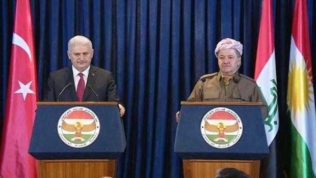 Serokê Herêma Kurdistanê Mesûd Barzanî û Serokwezîrê Tirkiyeyê Binali Yildirim li Munihê civiyan.