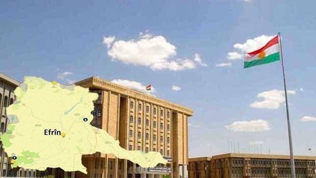 Parlamentoya Kurdistanê li ser Efrînê dicive