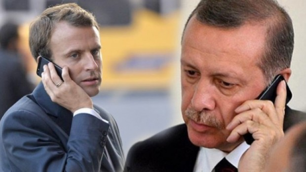 Piştî hişyariyên Fransa li ser Efrînê, Erdogan telefona Macron kir