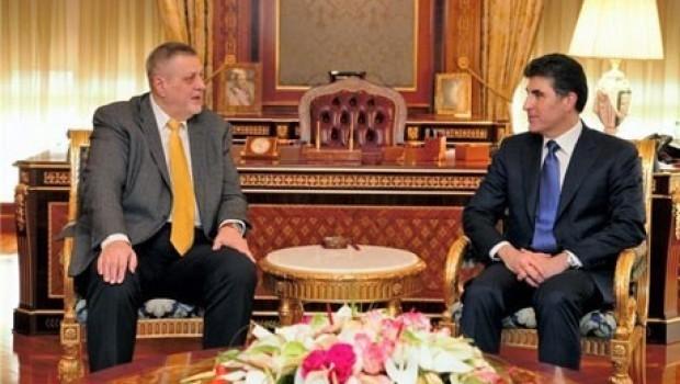 Nêçîrvan Barzanî û Jan Kubis proseya siyasî ya Iraq û Herêma Kurdistanê guftûgo dikin