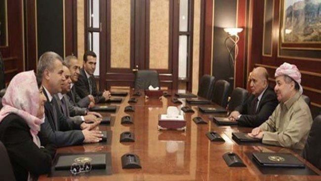 Serok Barzanî bi şanda ENKSê re rewşa siyasî ya Rojavayê Kurdistanê û Sûriyê guftûgo kir