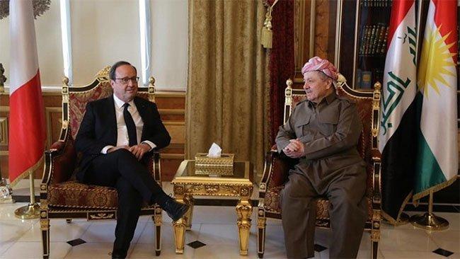 Hollande: Fransa herdem piştevanê gelê Kurdistanê dimîne
