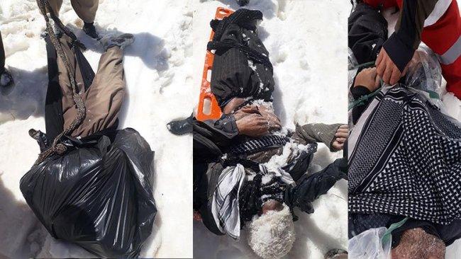 3 kolberên Kurd ji ber sermê canê xwe jidest dan