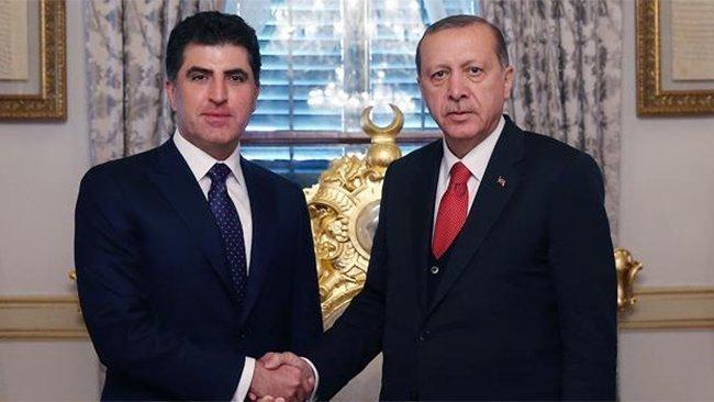 Erdogan pîrozbahîyê li Nêçîrvan Barzanî dike