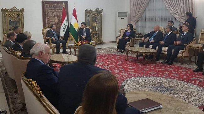 Şanda Encûmena Asayişa Navdewletî û şanda Herêma Kurdistanê civiyan