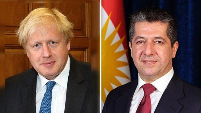 Serokwezîrê Kurdistanê pîrozbahiya Boris Johnson kir