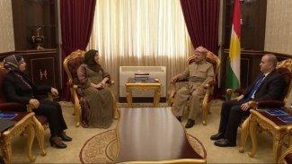 Serok Barzanî ligel Desteya Serokatiya Parlementoya Kurdistanê civiya
