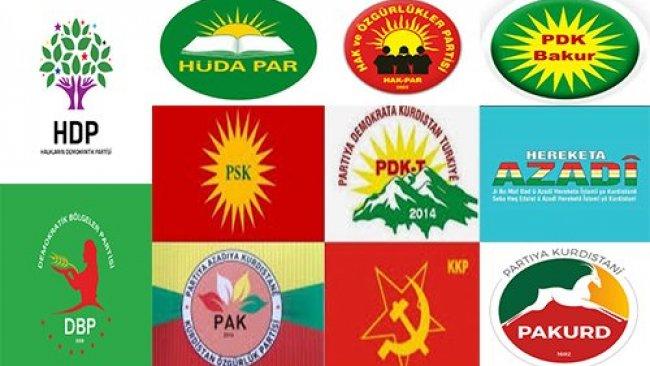Partî û rêxistinên me yên bakurê Kurdistanê!!!