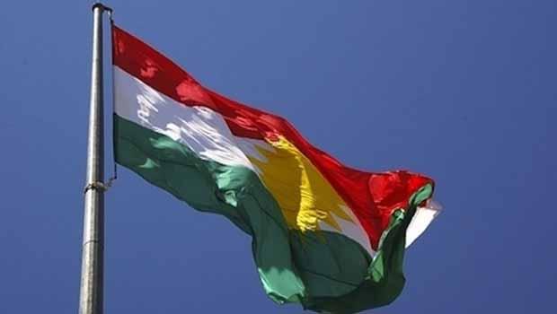 Mısır'da Kürdistan bayrağı