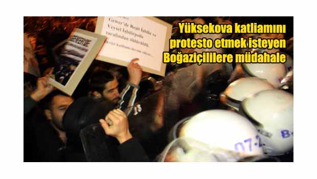 Yüksekova protestosuna müdahale