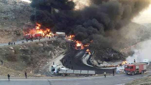 Zaxo'da tankerlerin zincirleme kazası: 12 kişi yanarak öldü