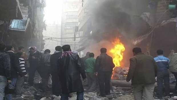 Halep'te savaş dramı! Cesetler teşhis için sergileniyor