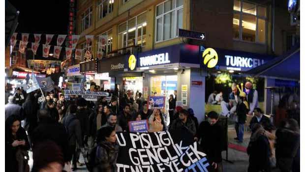 Taksim'de müdahale: 5 gözaltı