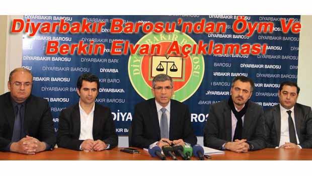 Diyarbakır Barosu'ndan Öym Ve Berkin Elvan Açıklaması