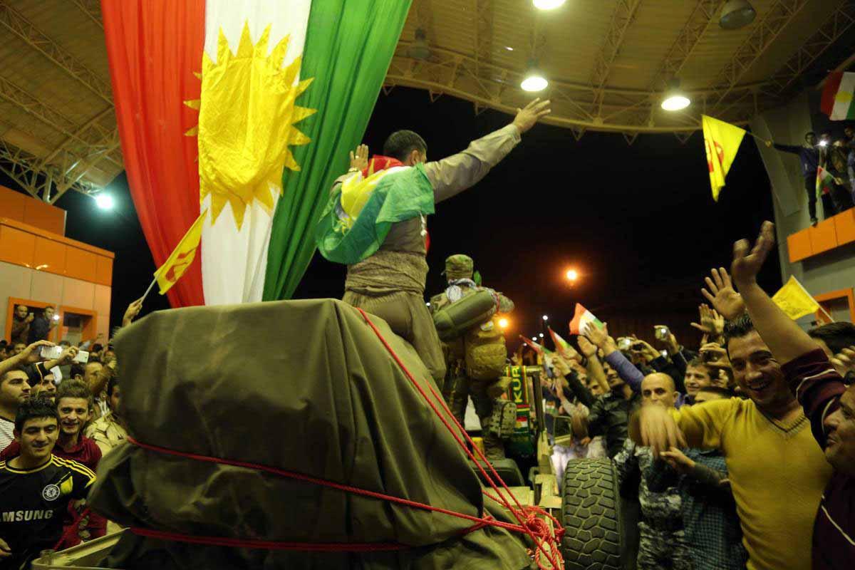 Hewler-Kobani Hattında Peşmerge Yürüyüşü
