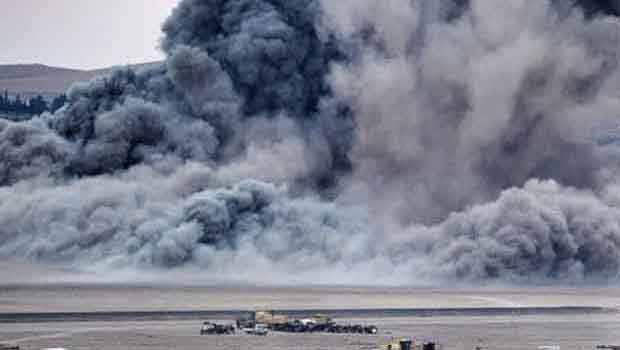 Koalisyon Güçleri, IŞİD'in kalesi Rakka'yı bombaladı