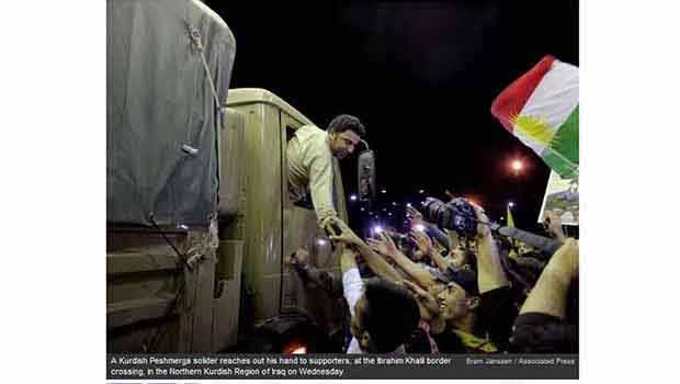 Peşmerge'nin Kobani Yürüyüşü Dünya Basınında