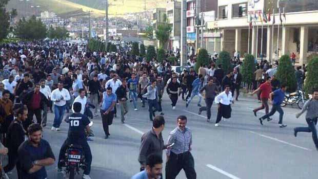 Mahabad olaylarında 10 Kürt yaralandı