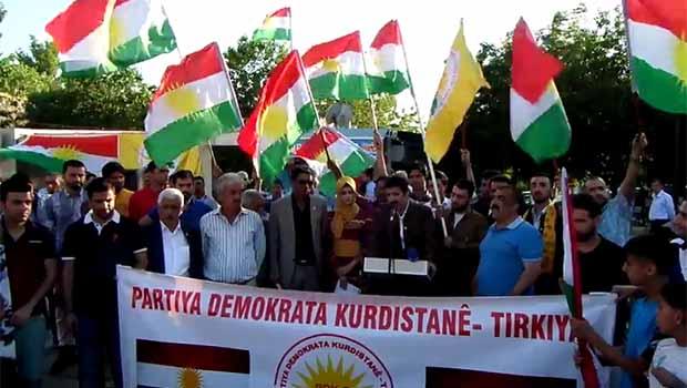 T-KDP gençlerinden Mesut Barzani'ye destek [Video]