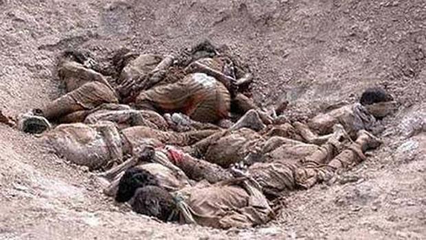 Musul'da IŞİD'lilere ait 83 ceset bulundu.