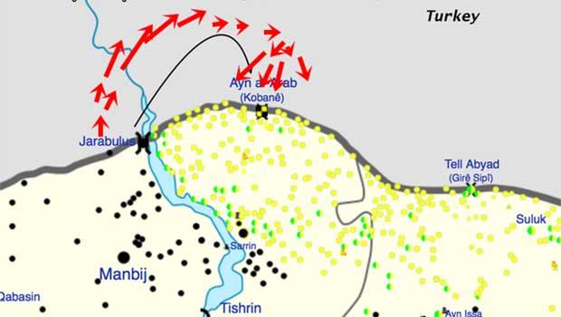 IŞİD Kobane'ye nerden sokuldu…..