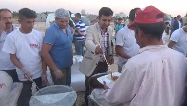 Suruç'ta bin kişilik Kobanê iftarı