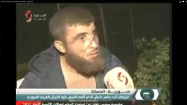 SANA IŞİD itirafçısının görüntülerini yayınladı