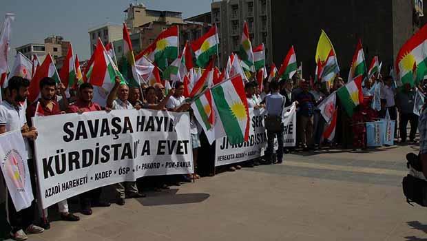 Kürdistani Partiler Diyarbakır'da 'Savaşa Hayır, Kürdistan'a Evet!' dediler
