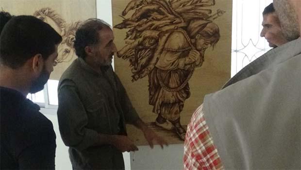 Dirbêsiyê'de 'Hawara welatekî' isimli resim sergisi