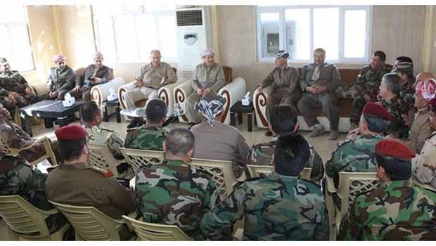 Mesut Barzani kurban bayramını da peşmergelerinin arasında geçirdi