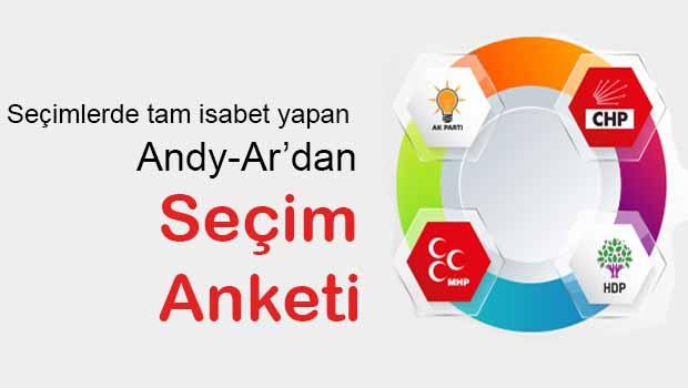 7 Haziran'da tam isabet yapan Andy-Ar'dan son seçim anketi