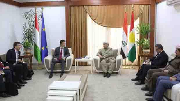 Barzani, Macaristan Dışişleri ve Ticaret Bakanı ile görüştü