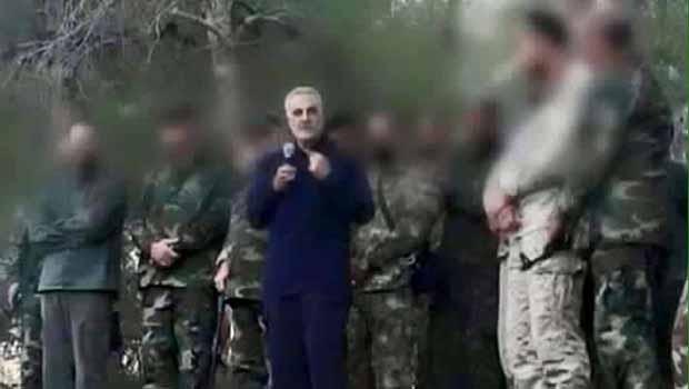 Kasım Süleymani, Suriye'de İran ve Hizbullah askerlerini denetledi