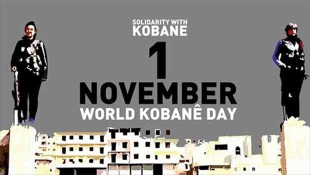 1 Kasım'da 5 kıtada Dünya Kobani Günü kutlanacak