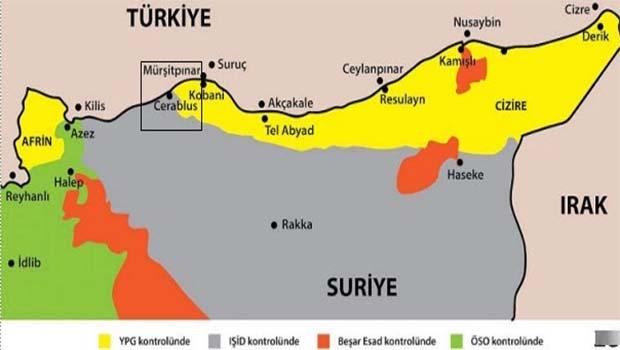 Türk ordusu Cerablus'ta