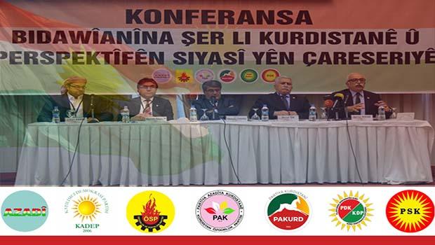 'Kürdistan'da Savaşın Sonlandırılması ve Siyasi Çözüm Perspektifi Konferansı' Sonuç Bildirgesi