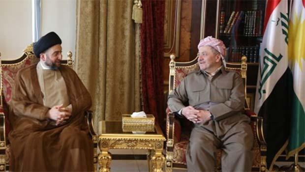 Barzani ve Seyyid Ammar el-Hakim'den işbirliği vurgusu