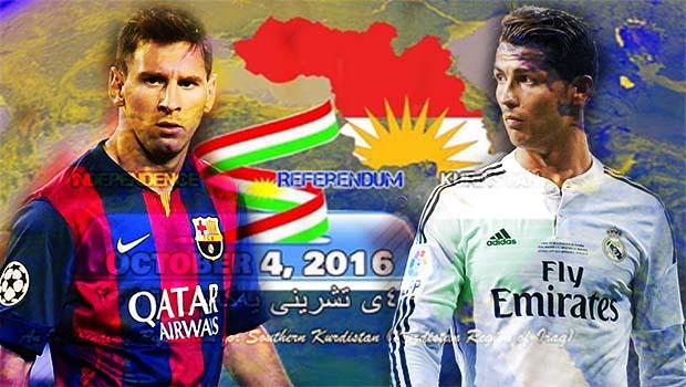 Güney Kürdistan referandumu galibi Messi mi? Ronaldo mu?