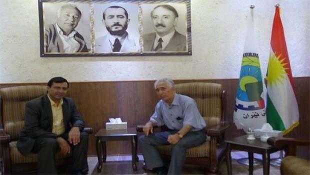 Mehdi Zana'dan PDK-İ'ye destek ziyareti