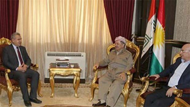 Başkan Barzani ENKS Başkanı İbrahim Bıro'yu kabul etti