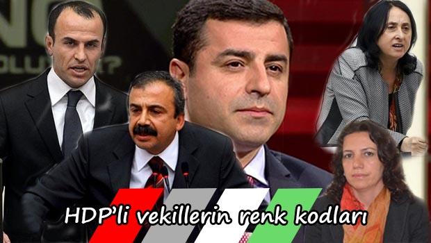 HDP'li vekillerin renk kodları