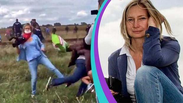 Mültecilere tekme atan Macar kameramana ödül!