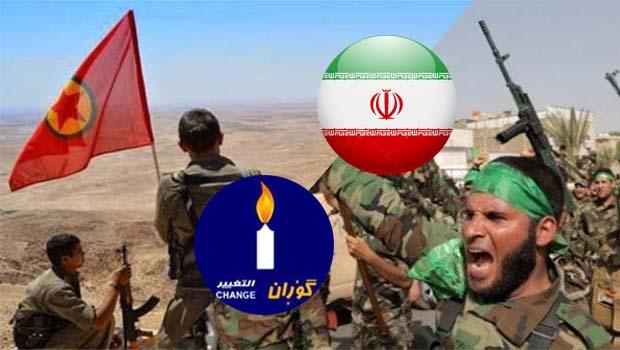 Şeytan-e Bozorg İran, Haşdi Şabi, Goran, PKK ve Kürdler