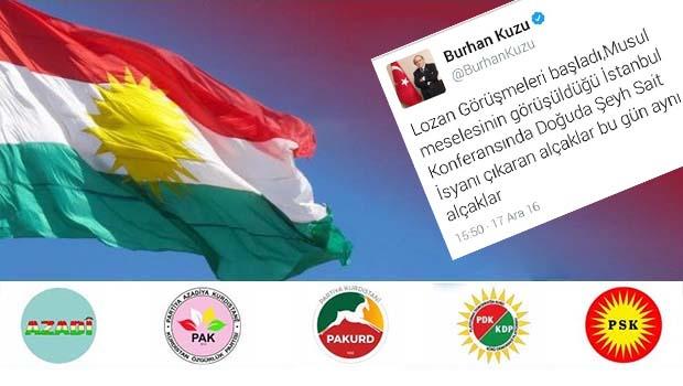Kurdistani Partiler: Burhan Kuzu Şeyh Said'ten özür dilemeli