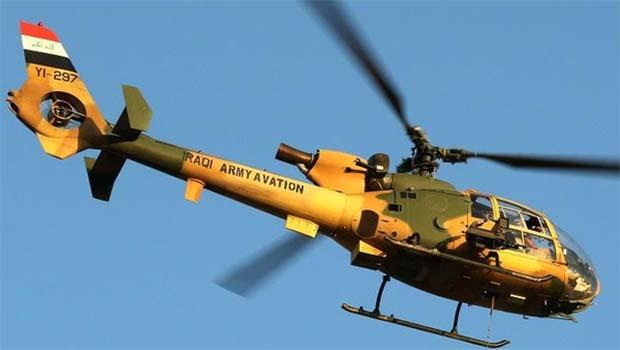Irak'ta askeri helikopter düştü