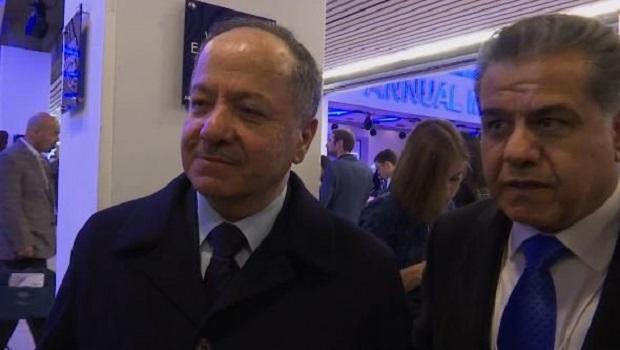 Başkan Barzani'nin Davos temasları sürüyor
